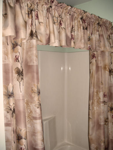 This photo of the shower curtain reflects most accurately the true