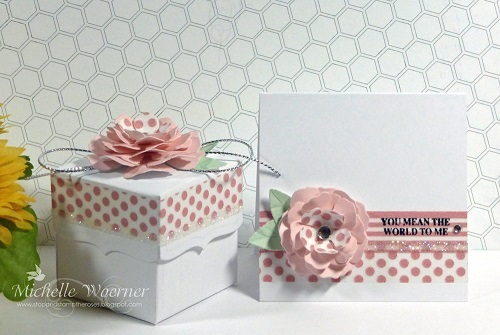 Beautiful gift box and card by michelle woerner - How to make beautiful gift box ...