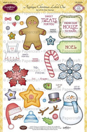 Applique Christmas Labels 1 2
