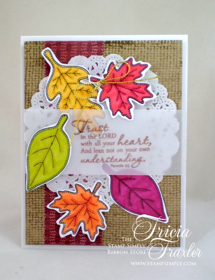 Burlap Leaves 422550