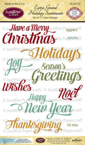 Extra Grand Holiday Sentiments