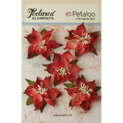 Burlap Poinsettia Red 500500