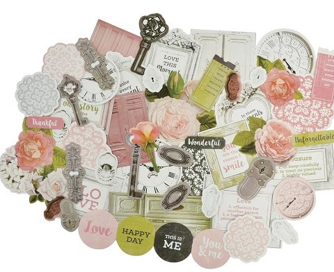 Cottage Rose Die Cuts 500500